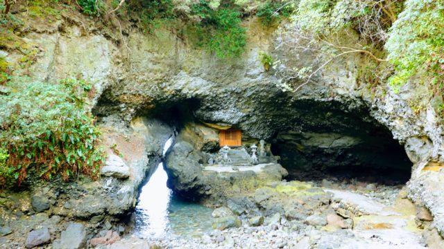 長崎鼻 行者洞穴