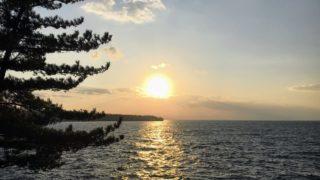 長崎鼻から見る夕日