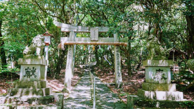 八幡西区市瀬の鷹見神社の鳥居