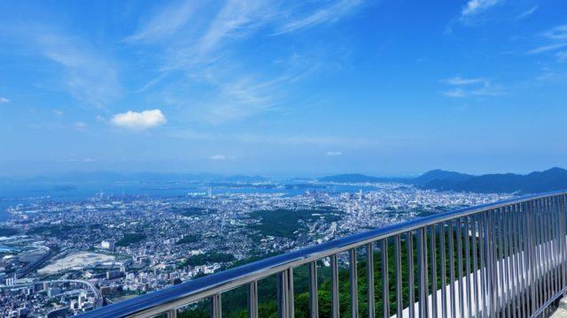 皿倉山頂上からの景色
