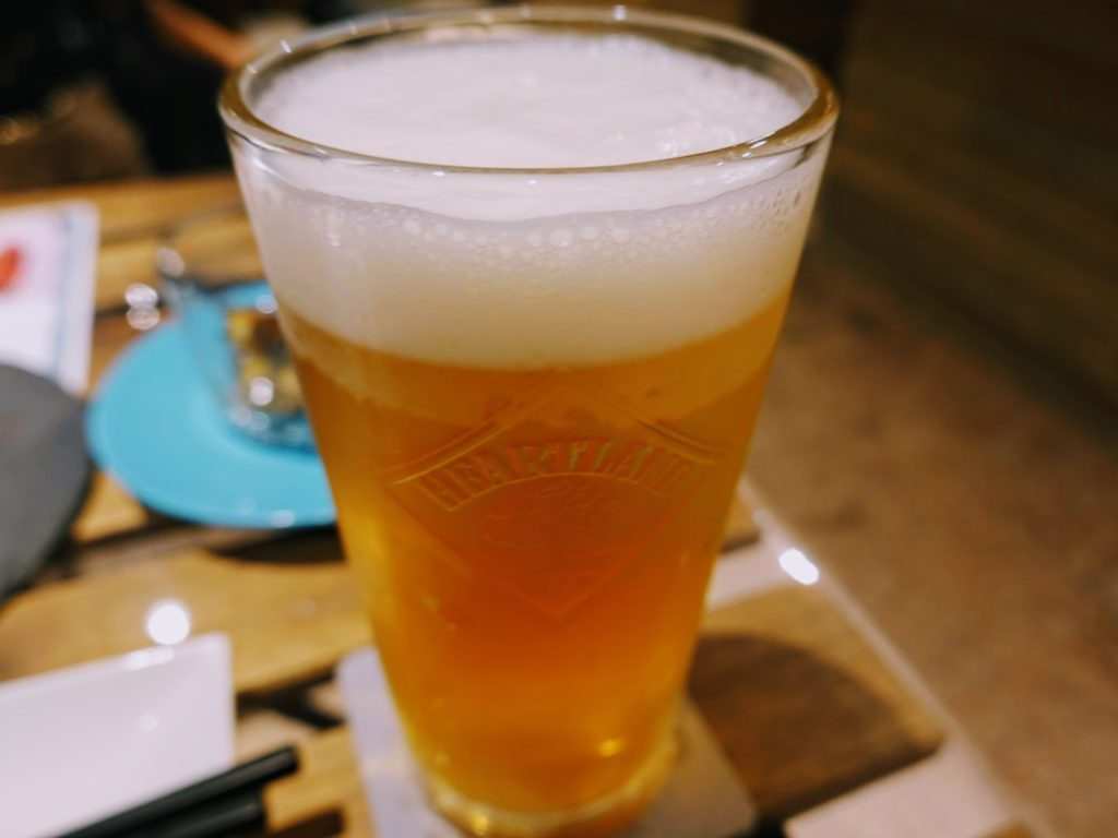 コトブキッチンの生ビール