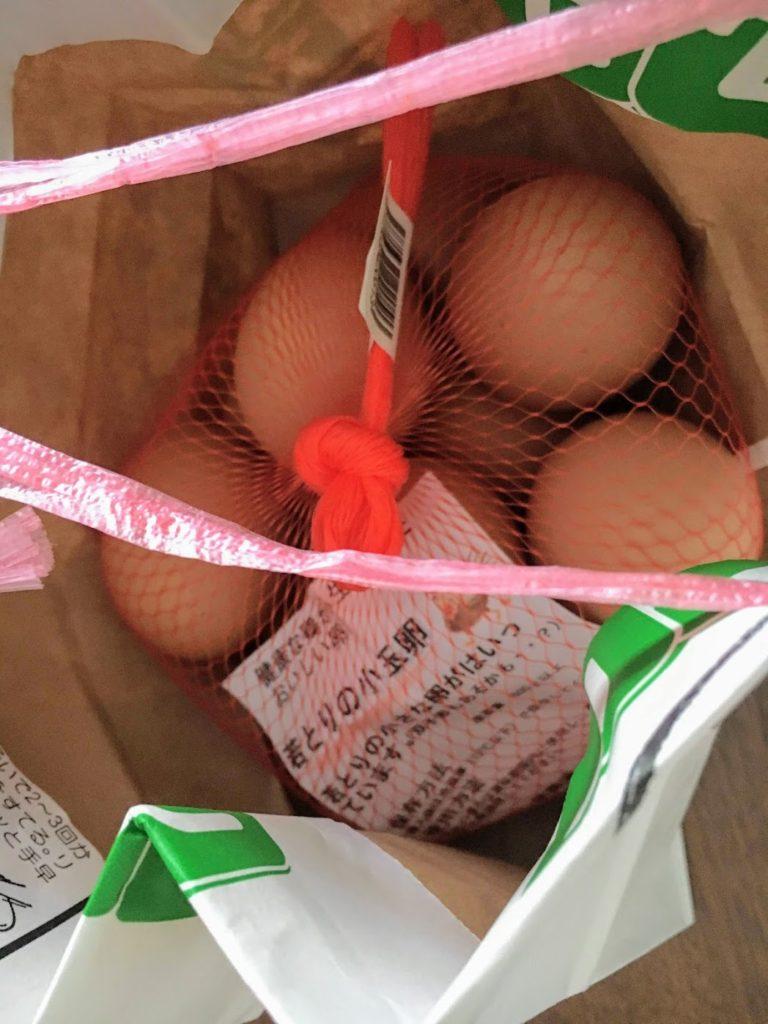 若松かっぱの里で買った若鶏の卵