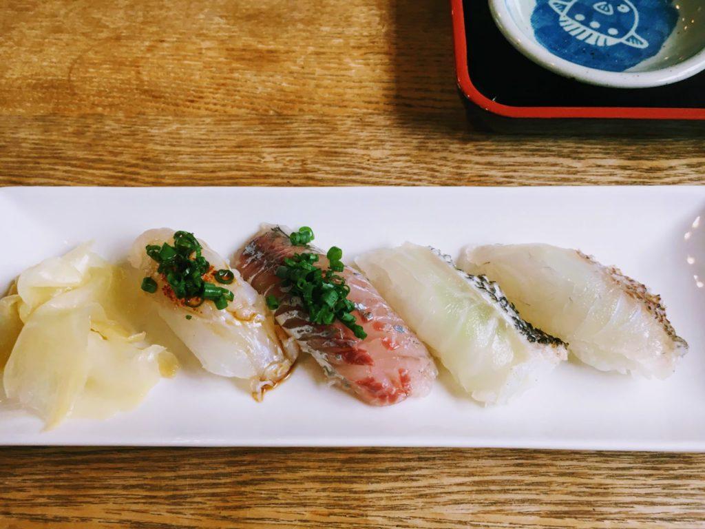 升風庵の握り寿司