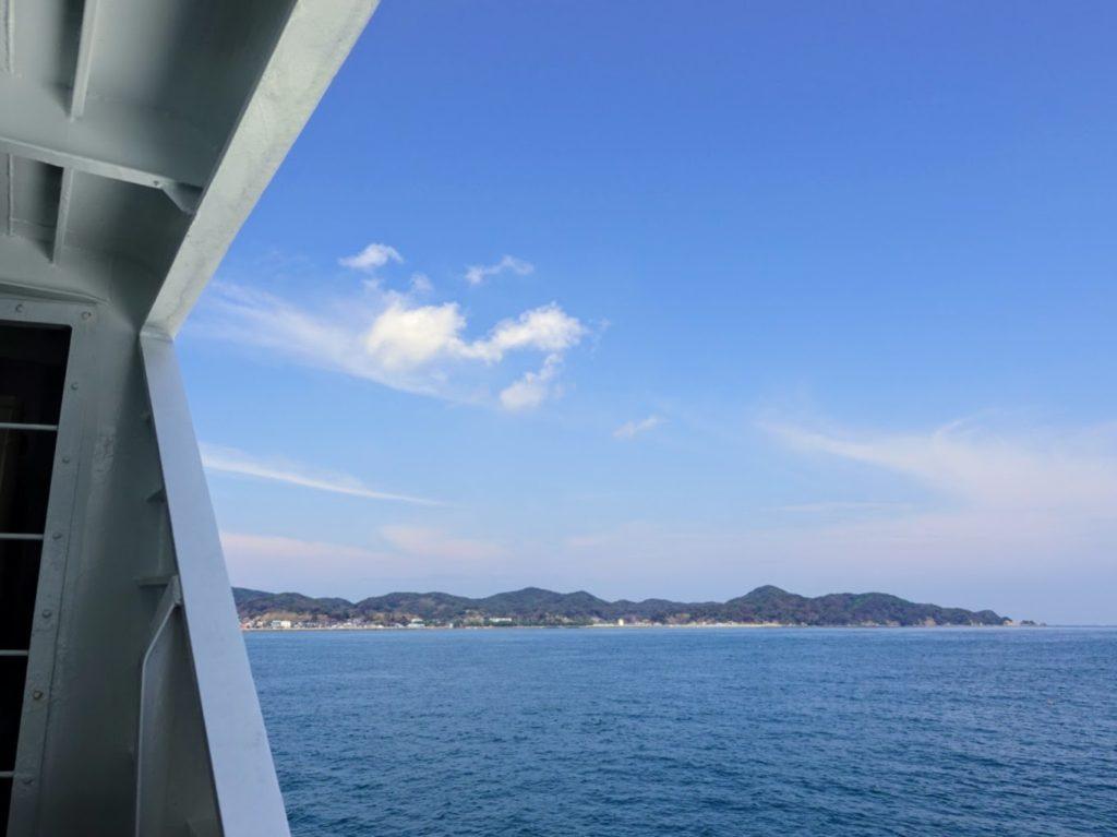 旅客船「しおかぜ」から見る景色