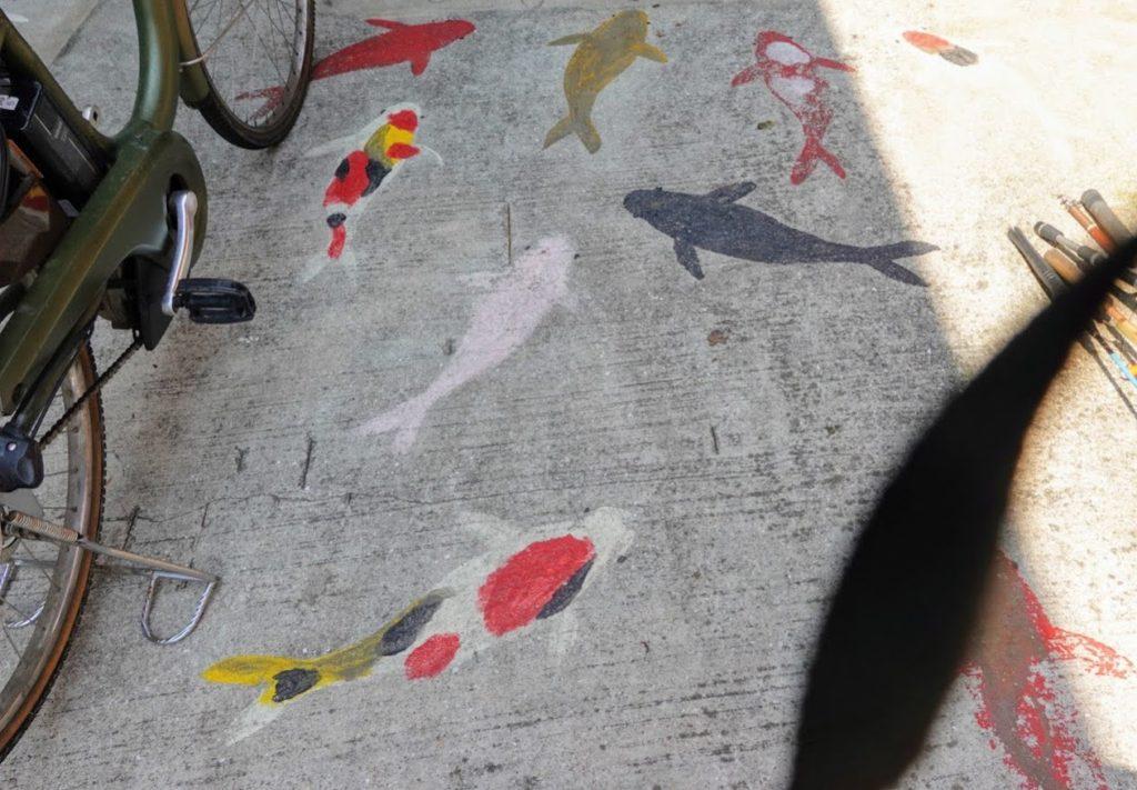 「壽や 三郎」の鯉の絵