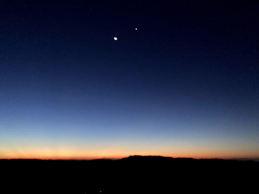 国東半島 梅園の里 夜明けの空