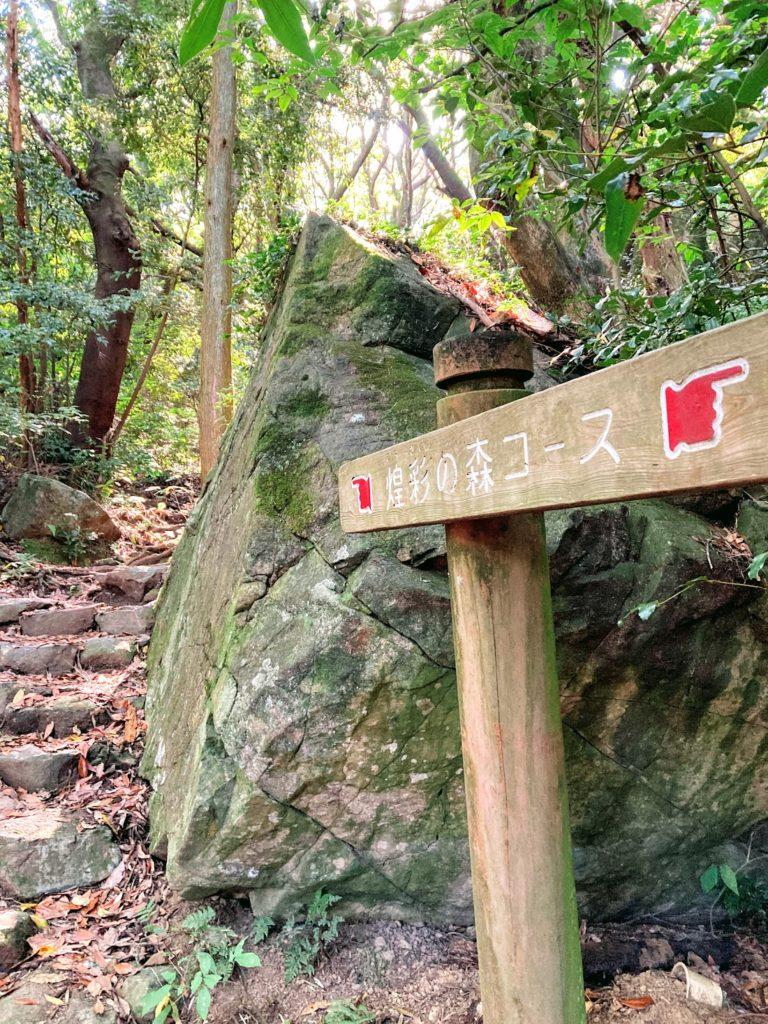 皿倉山・煌彩の森コースの看板