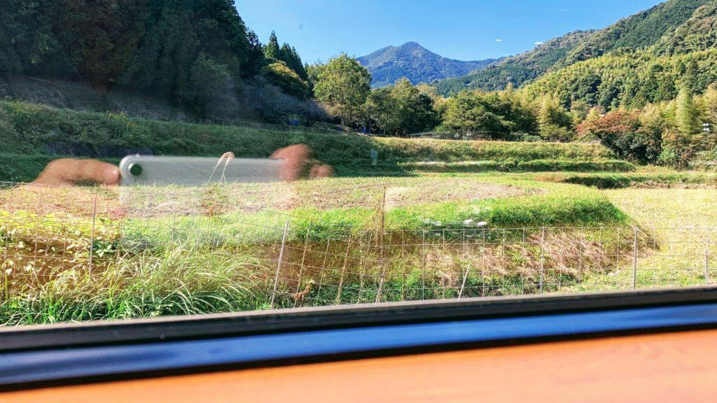 脇田温泉・宮若市カフェむすびから見える景色