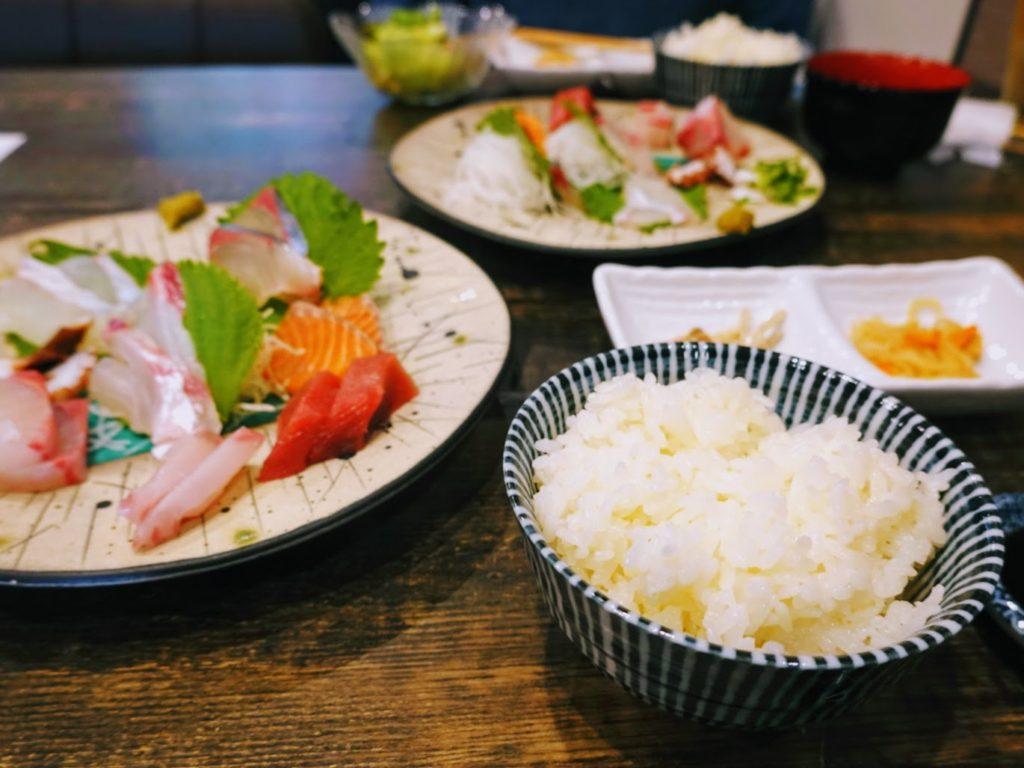 「kitchen いしばし(キッチンいしばし)」刺身定食