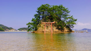 宗像大島夢の小夜島無料写真素材