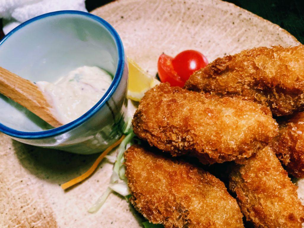 夢玄メニュー・岡山県産牡蠣フライ