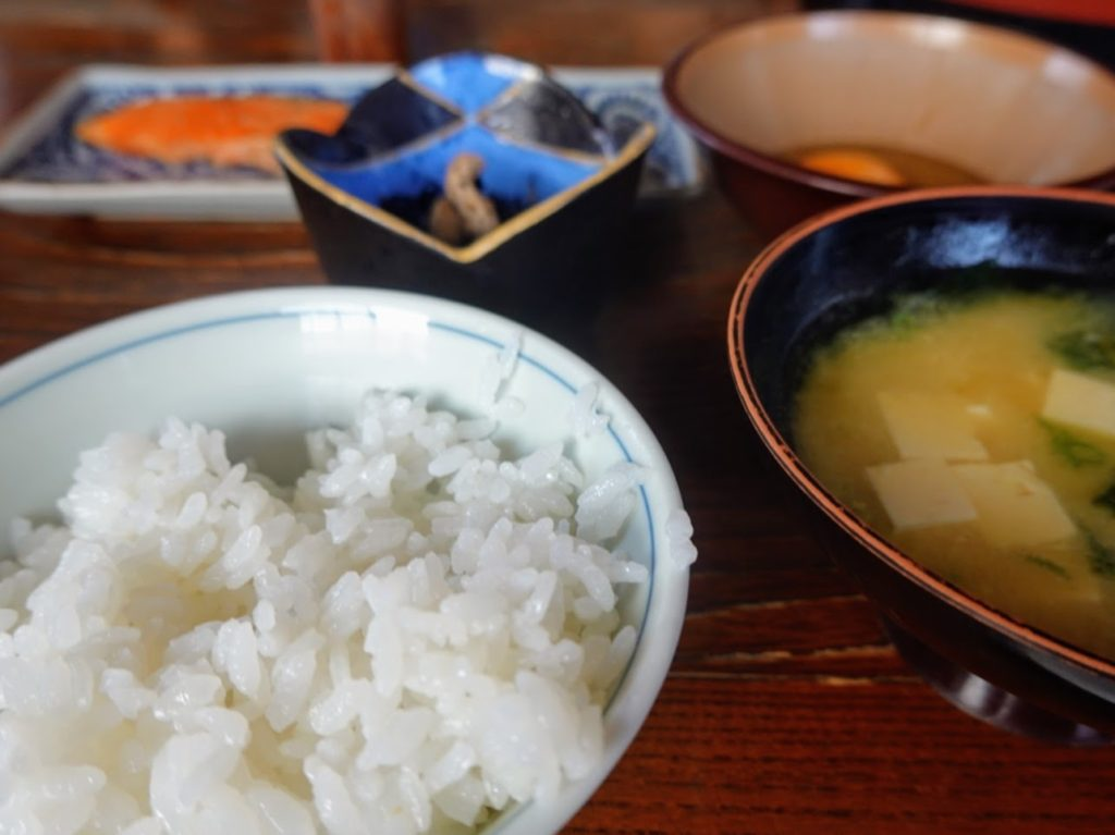 佐賀・古湯温泉の民宿「幸屋(ゆきや)」さんの朝食